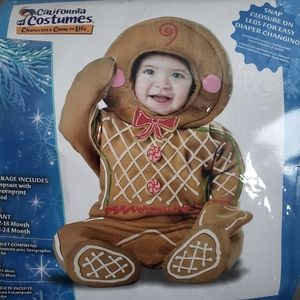 Baby Gingerbread Cookie Halloween or Christmas Costume